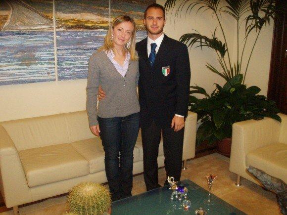 Stefano Figini ricevuto a Palazzo Chigi, Finswimmer Magazine - Finswimming News
