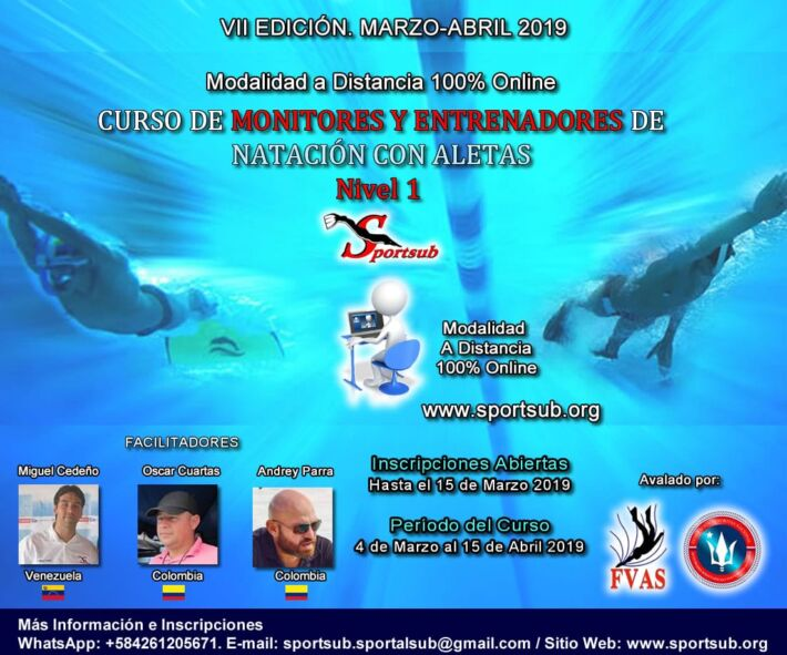 Online course for Finswimming Trainers (In Spanish) / Curso de Entrenadores de Natación con Aletas Online, Finswimmer Magazine - Finswimming News