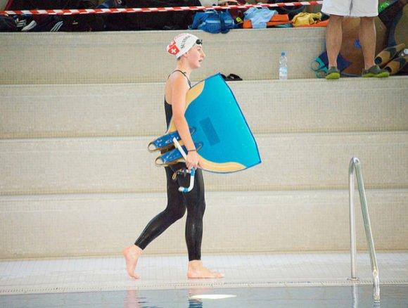 Nina Angermayr, a Finswimmer from Swiss Alps, Finswimmer Magazine - Finswimming News