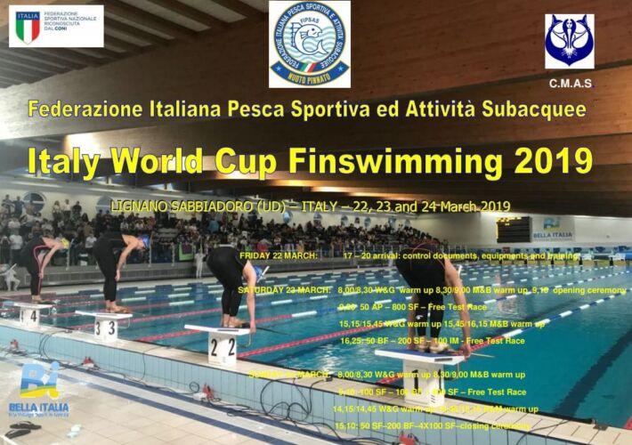 XIV CMAS Finswimming World Cup 2019 – Lignano Sabbiadoro, Italy – [RESULTS+GALLERY], Finswimmer Magazine - Finswimming News