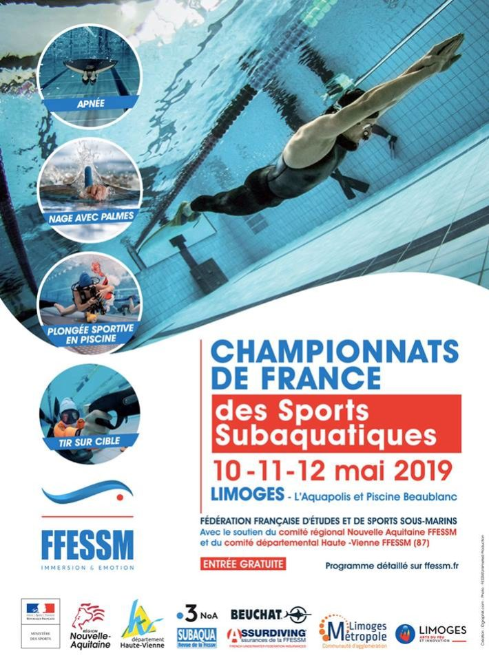 Underwater Sports French Championships 2019 – Limoges – [RESULTS], Finswimmer Magazine - Finswimming News