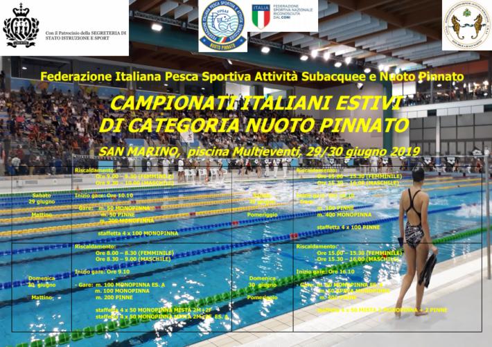 Italian Finswimming Championship for Age 2019 – San Marino – [RESULTS], Finswimmer Magazine - Finswimming News