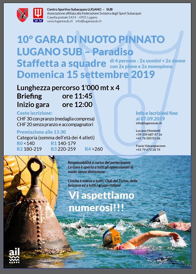 Lugano Sub Finswimming Open Water 2019, Finswimmer Magazine - Finswimming News