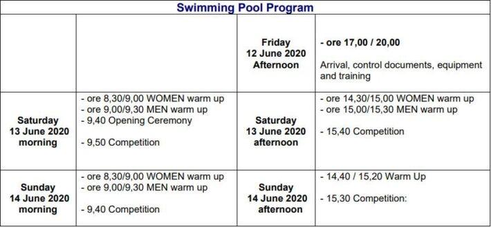 II CMAS Finswimming World Championships MASTER 2020 – Italy, Finswimmer Magazine - Finswimming News