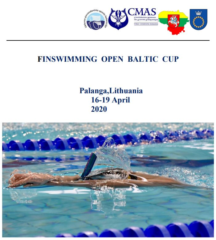 Finswimming Open Baltic Cup 2020 in Palanga (Lithuania), Finswimmer Magazine - Finswimming News