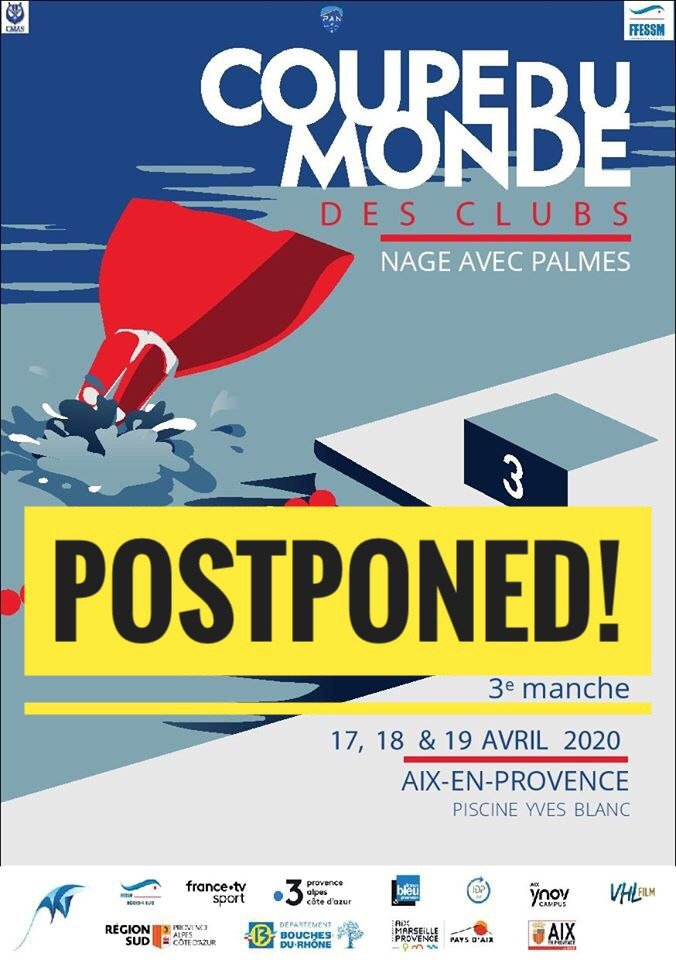 [OFFICIAL] Finswimming CMAS World Cup France postponed, Finswimmer Magazine - Finswimming News