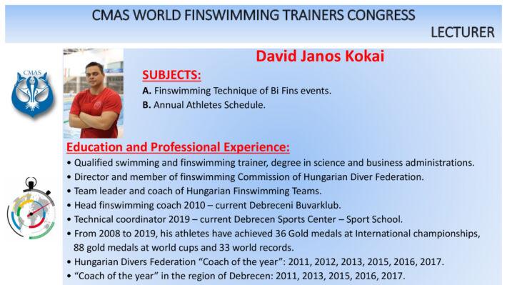 Mazzei and Kokai – CMAS World Finswimming Trainers Congress, Finswimmer Magazine - Finswimming News
