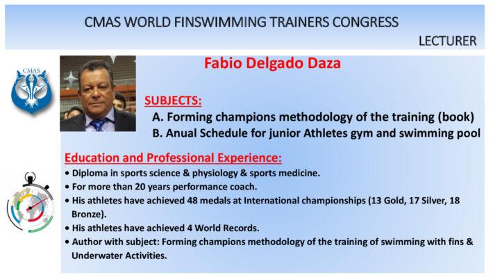 Delgado Daza and Leglise – CMAS World Finswimming Trainers Congress, Finswimmer Magazine - Finswimming News