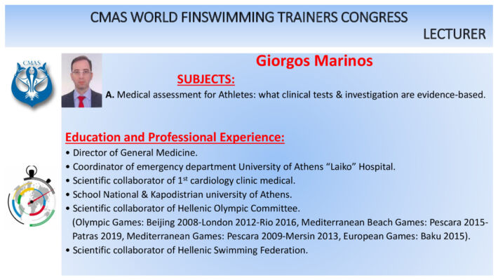 Marinos and Tripi – CMAS World Finswimming Trainers Congress, Finswimmer Magazine - Finswimming News