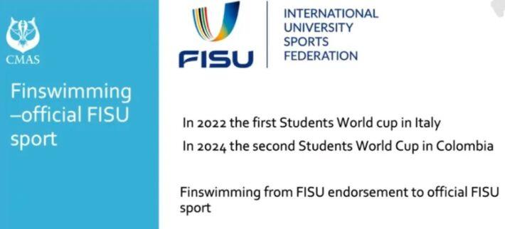 Finswimming in FISU University World Cups 2022, Finswimmer Magazine - Finswimming News