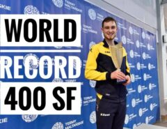 [VIDEO] Oleksii Zakharov NEW WORLD RECORD 400 sf, Finswimmer Magazine - Finswimming News